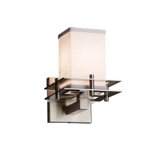 "Justice Design Group FAB-8171-15-WHTE-NCKL-LED1-700 Textile 6.5/"" Metropolis LED"