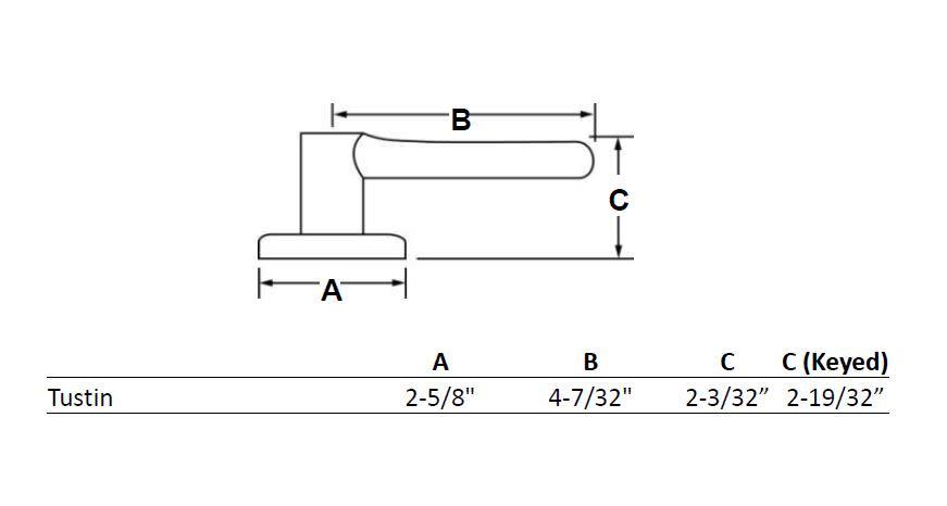 Kwikset 720TNL Tustin Passage Door Leverset From The Signature Series