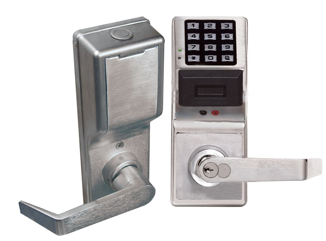 alarm lock pdl4100 26d satin chrome trilogy 2000 user proximity and keypad privacy residency. Black Bedroom Furniture Sets. Home Design Ideas