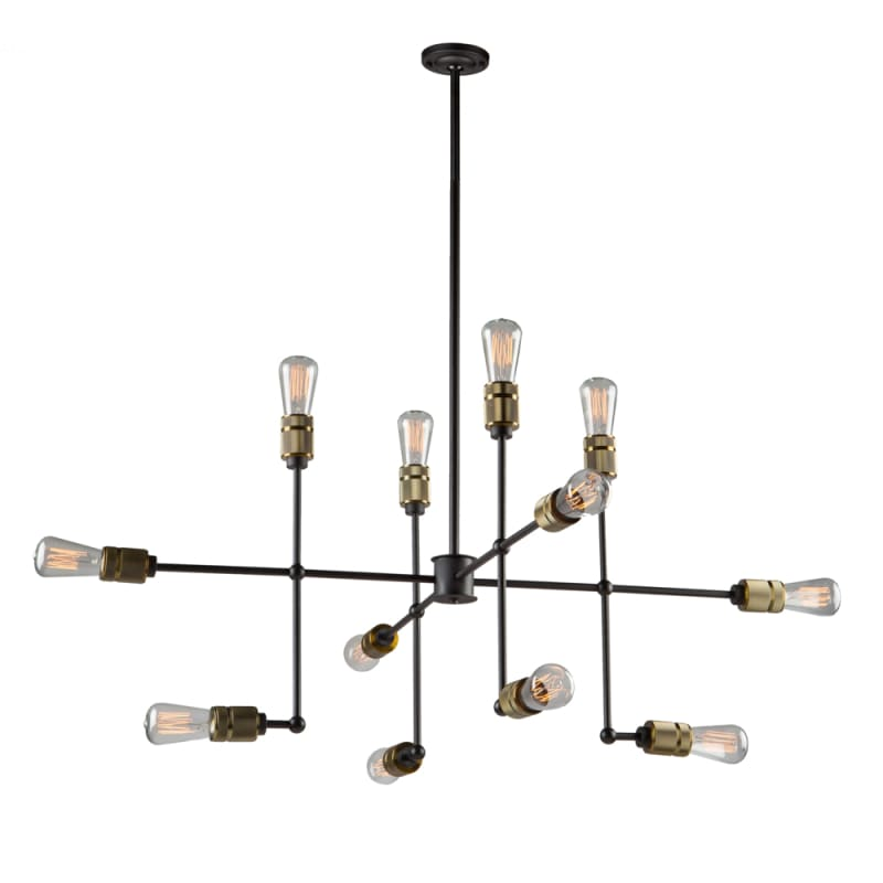 artcraft lighting ac10582vb vintage brass jersey 12 light chandelier