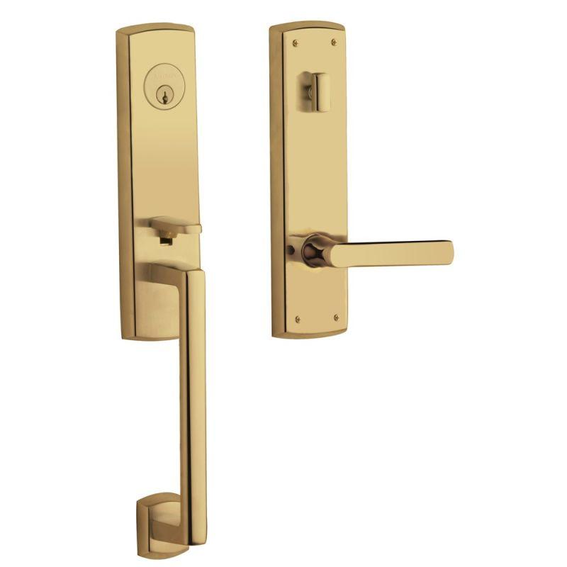 Baldwin m516003lent lifetime polished brass soho left hand for Baldwin entrance sets