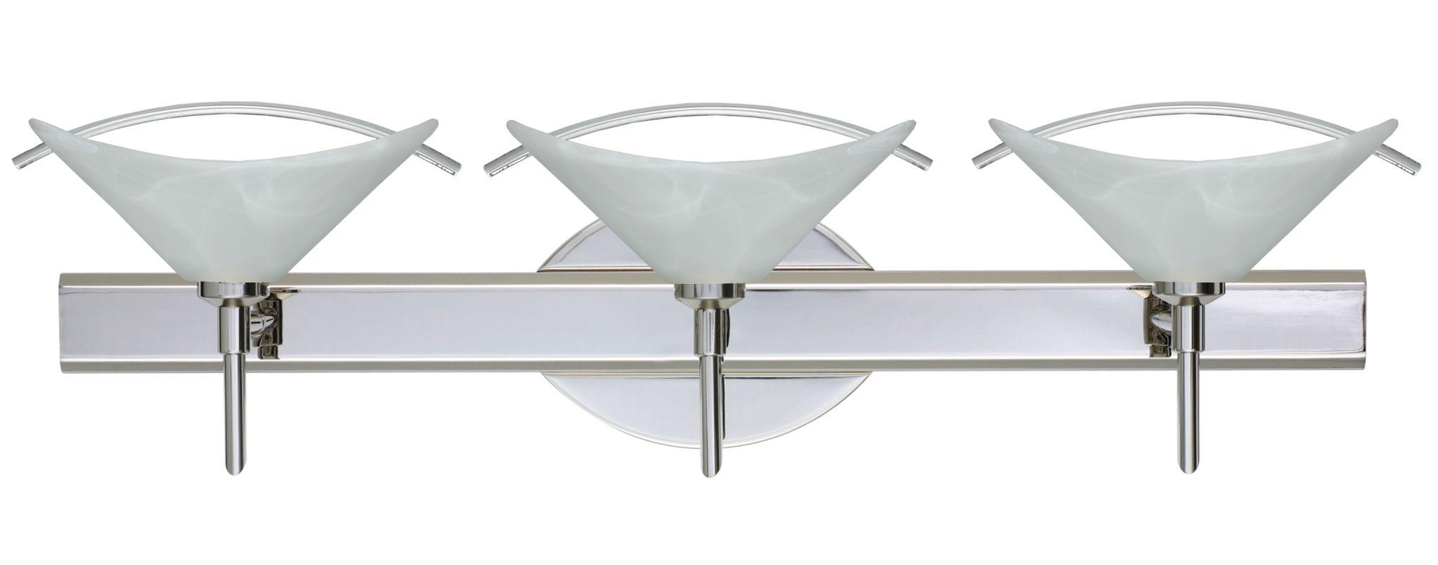 Kichler 628 Chrome Bath Vanity 48 Wide 8 Bulb Bathroom: Besa Lighting 3SW-181304-CR Chrome Hoppi 3 Light