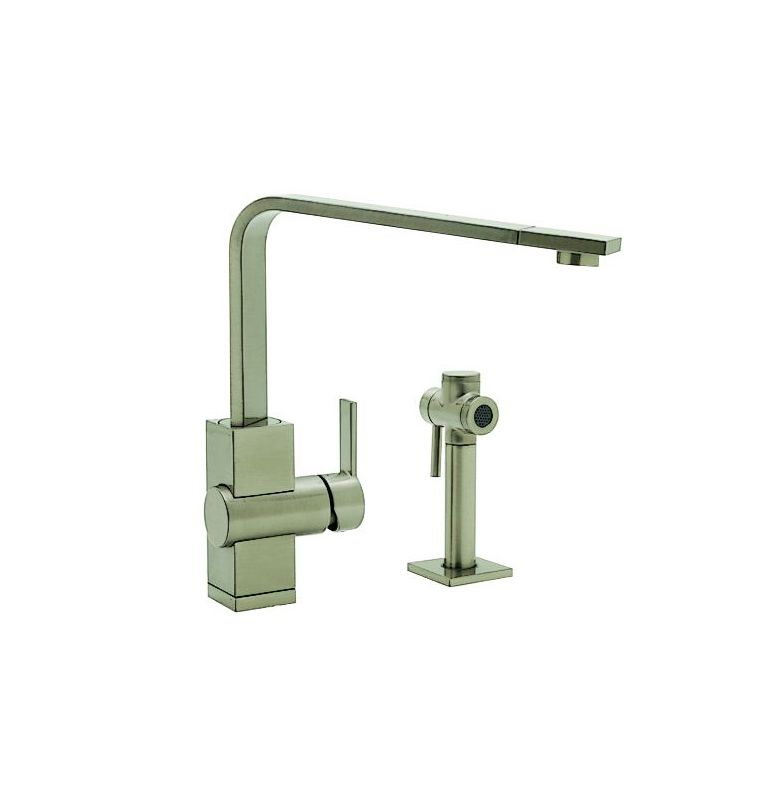 Blanco 440691 satin nickel ziros single handle kitchen for Eco friendly kitchen faucets