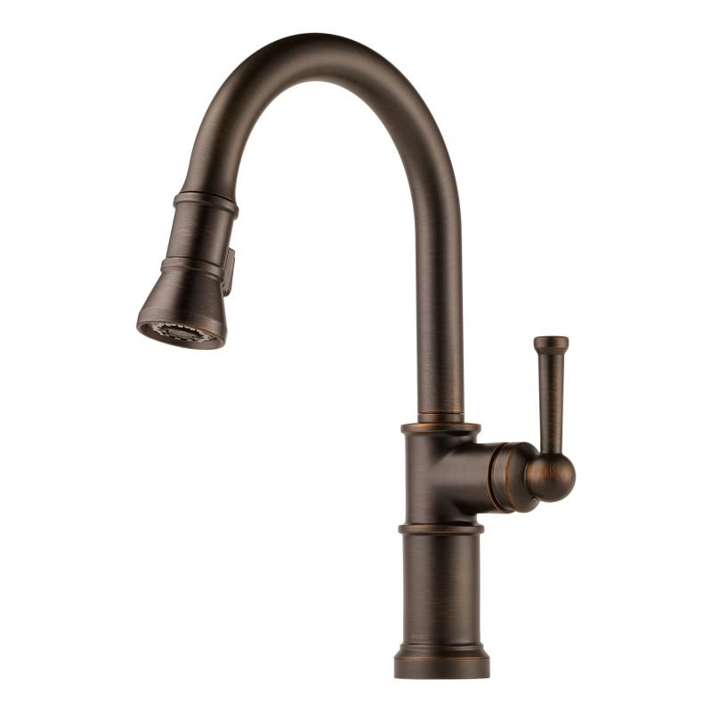 brizo 63025lf rb venetian bronze artesso pull down kitchen kitchen faucet single handle pull down arctic stainless