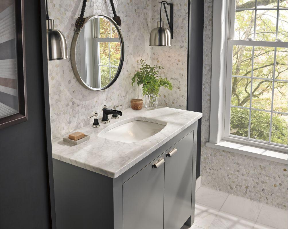 Faucet Com 65360lf Nkbllhp In Luxe Nickel Matte Black By