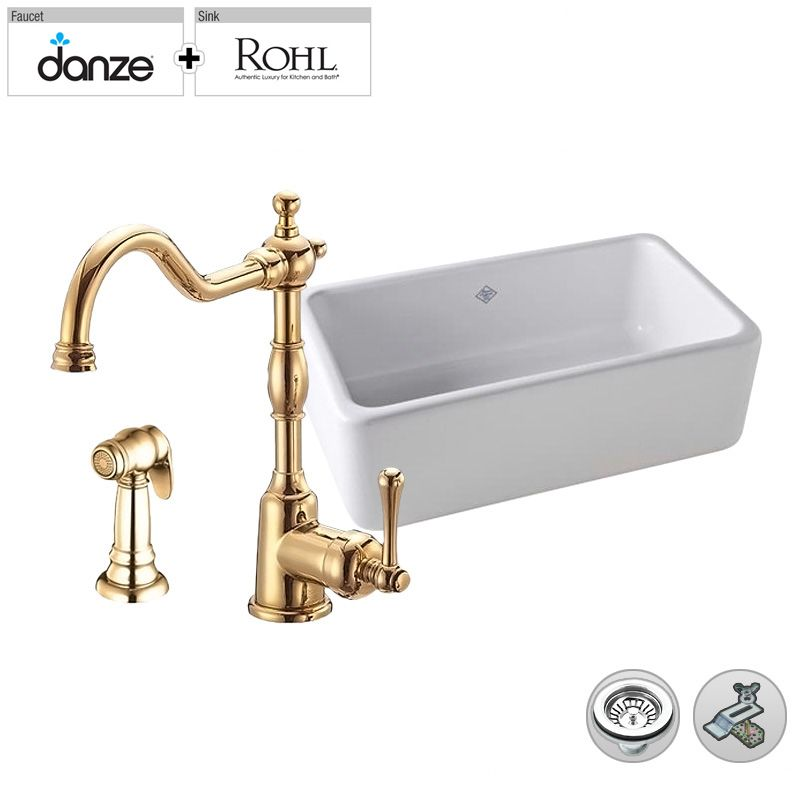 Build Smart Kits RC3018/D401557PB Polished Brass Faucet ...