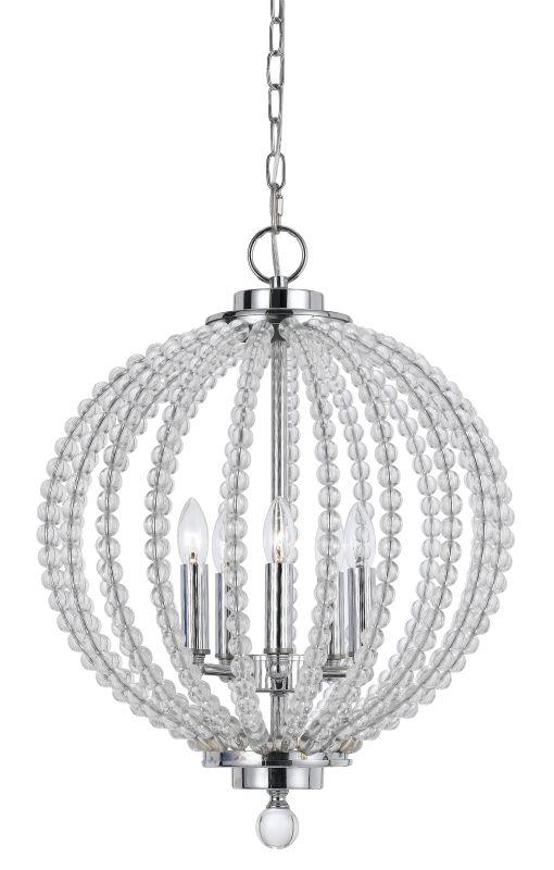 cal lighting fx  glass olivia 5 light