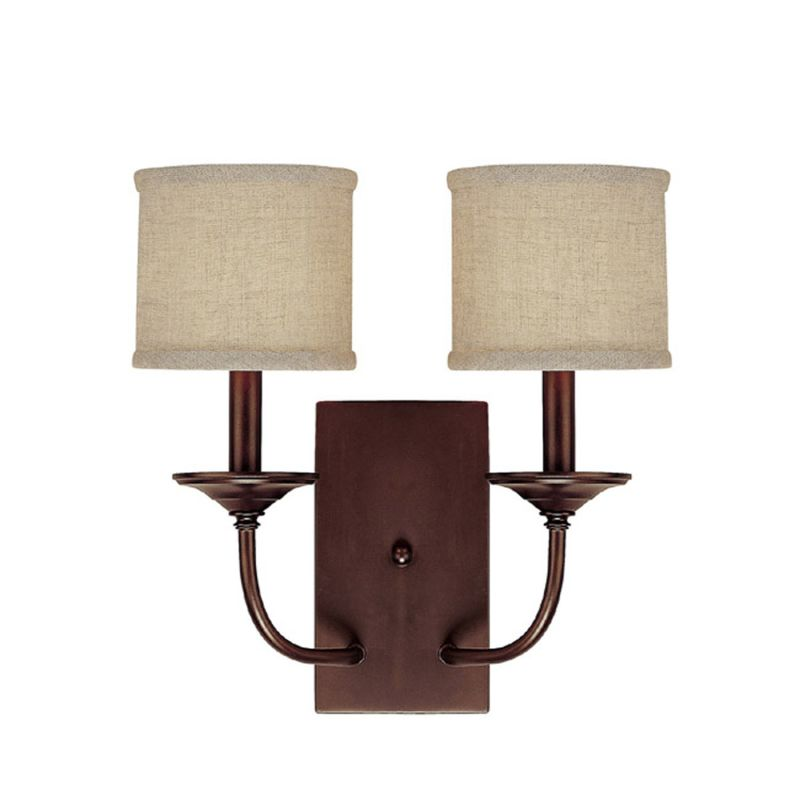 Wall Sconce Electric Box : Capital Lighting 1982BB-468 Burnished Bronze Loft 2 Light Candle-Style Wall Sconce ...