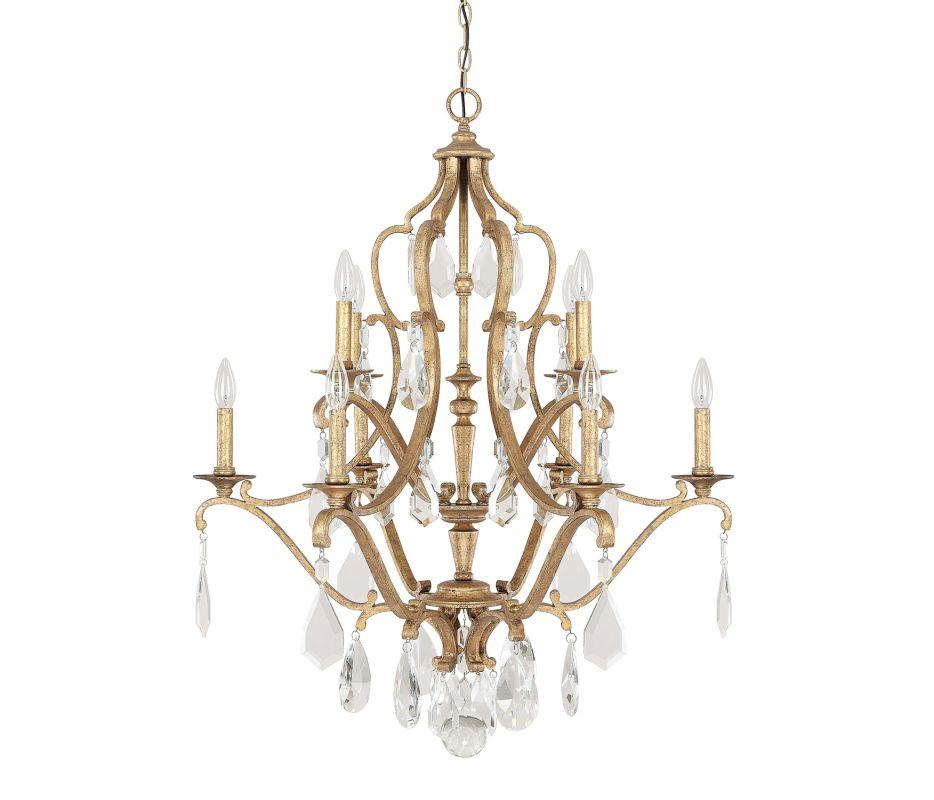 Capital Lighting 4180ag Cr Antique Gold Blakely 10 Light