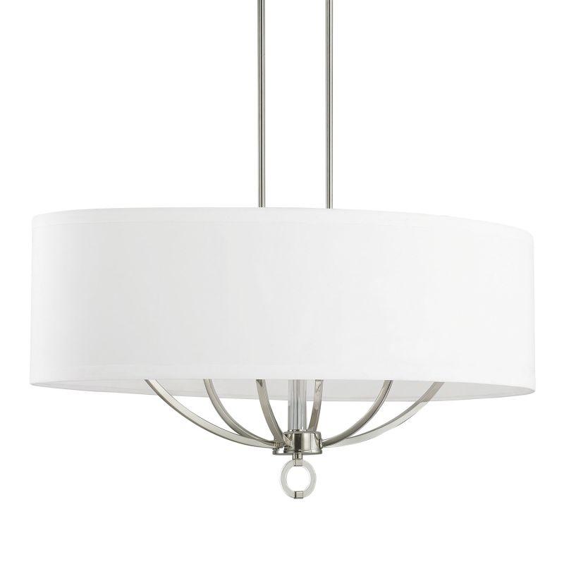 Capital Lighting 4597pn 624 Polished Nickel White Fabric