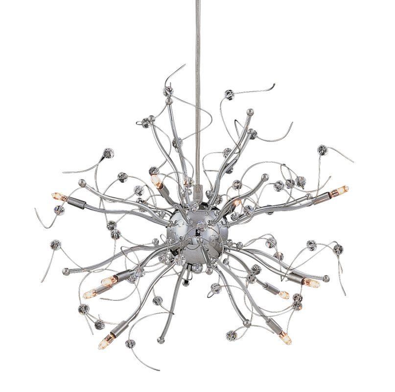 classic lighting 16070 ch chrome 16 u0026quot  crystal chandelier