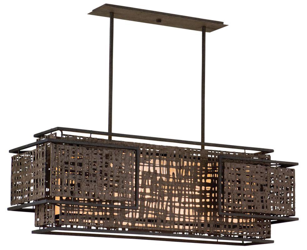 Corbett Lighting 105 54 Bonsai Bronze Shoji 4 Light Linear