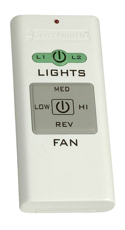 Craftmade Tcs Remote White Fan And Light Handheld Control