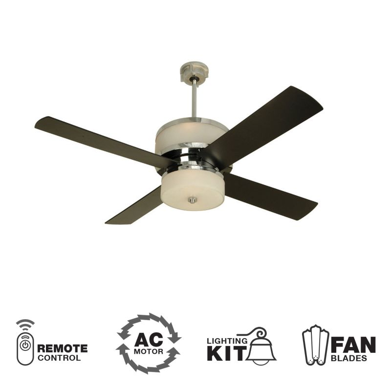 craftmade mo56ch4 chrome modern 56 quot 4 blade indoor ceiling fan