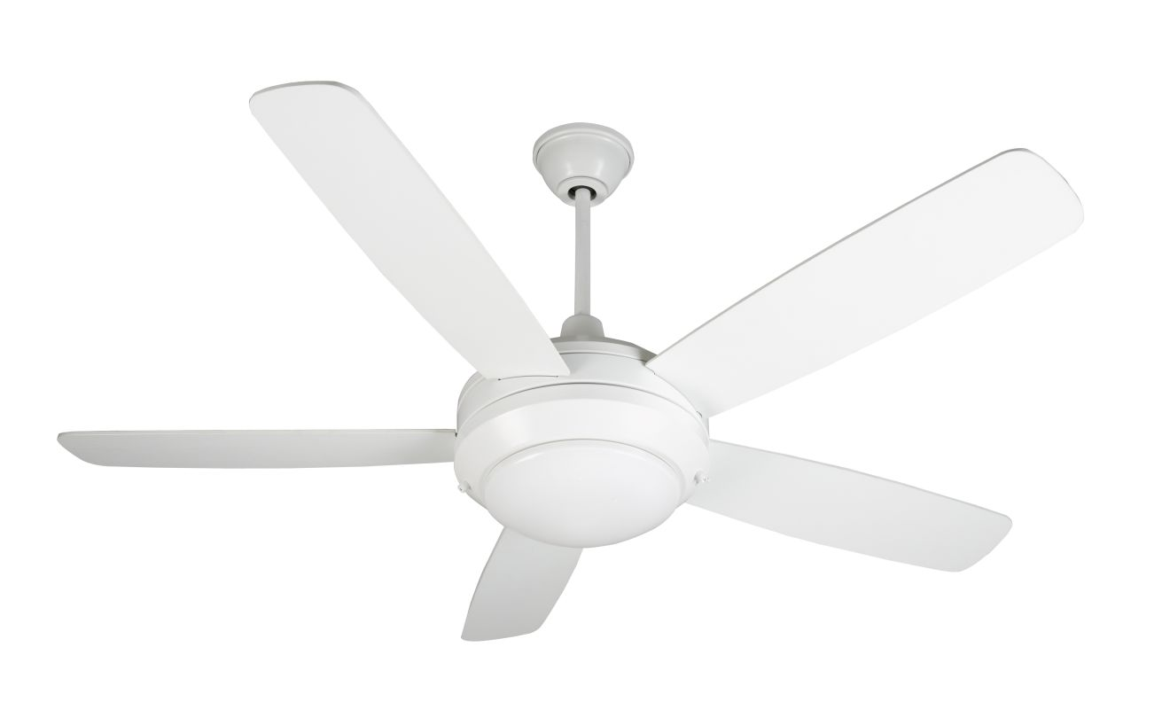Craftmade He52w5 White Helios 52 Quot 5 Blade Indoor Ceiling Fan Blades And Light Kit Included