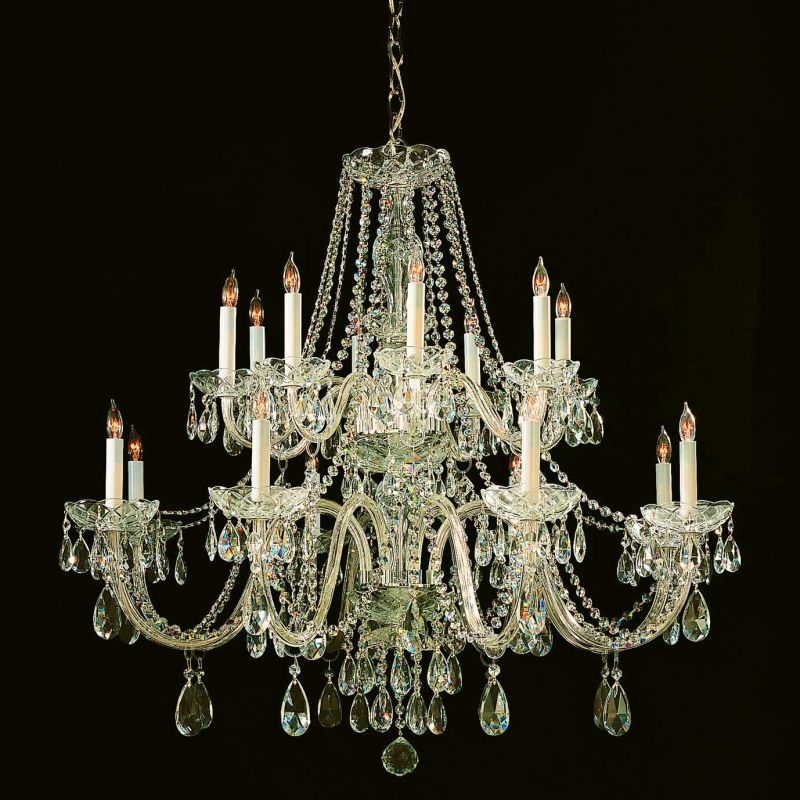 Crystorama lighting group 1139 pb cl saq polished brass traditional crystal 16 light 37 wide 2 - Popular chandelier styles ...