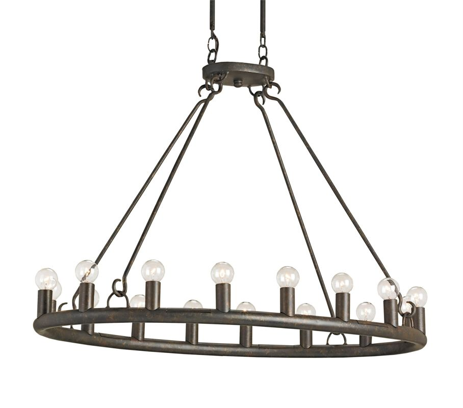 Currey And Company Warranty: Currey And Company 9812 Mayfair Wilford 16 Light Oval