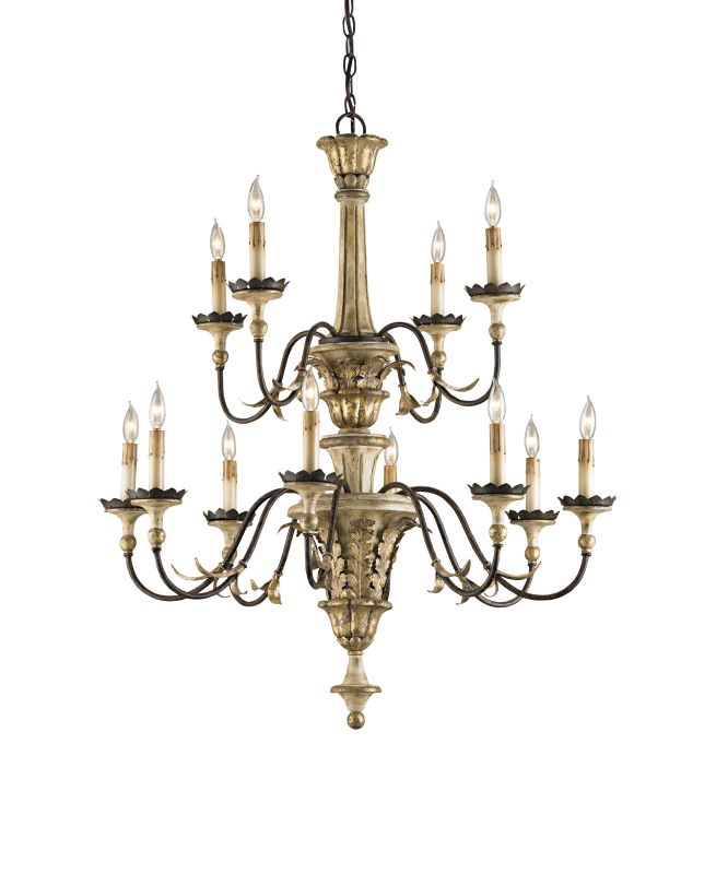 Currey And Company Warranty: Currey And Company 9040 Ivory Brown / Sicilian Gold Leaf