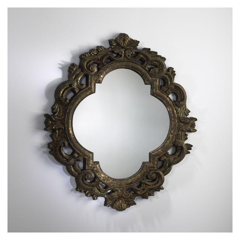 cyan design 01496 antiqued gold 34 5 milena mirror