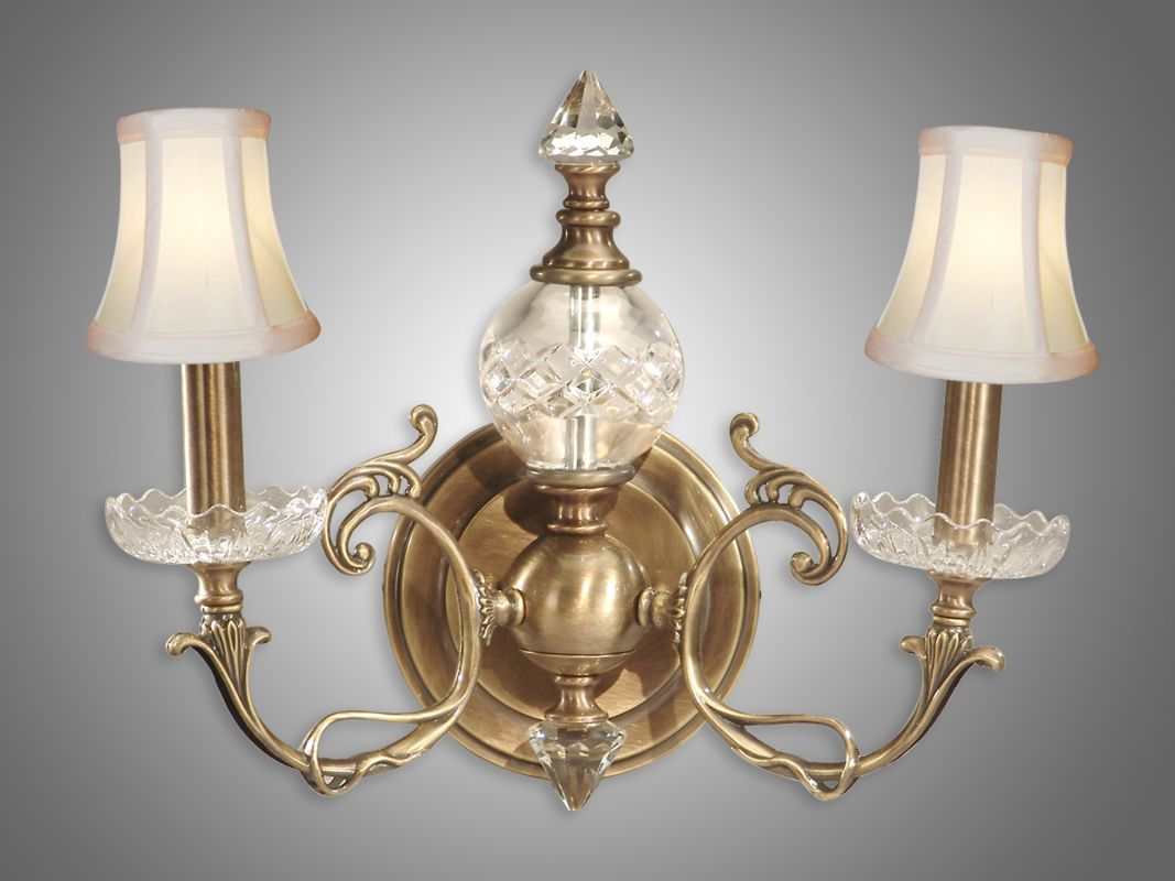Tiffany Wall Sconce With Switch : Dale Tiffany GH60805 Antique Brass 14