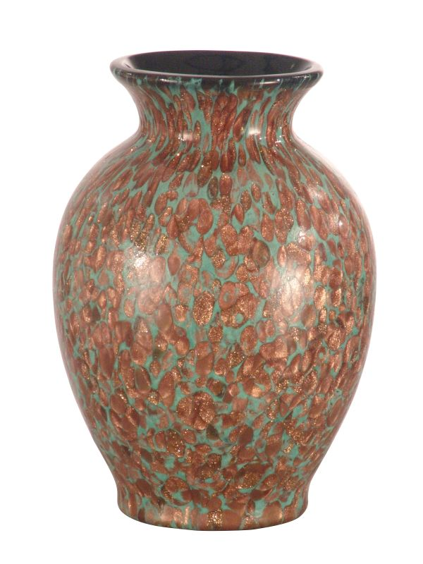 Dale Tiffany Dag500207 Glass Burnt Umber Favrile Vase With