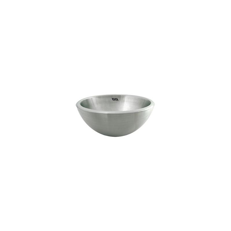 Decolav 1216 b brushed 16 stainless steel vessel bathroom - Stainless steel vessel sinks bathroom ...