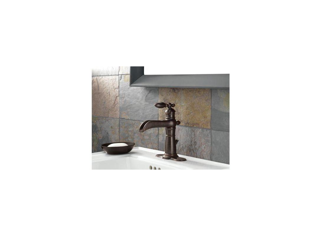 Delta Victorian 555lf Single Handle Centerset Bathroom: 554-PT In Aged Pewter By Delta