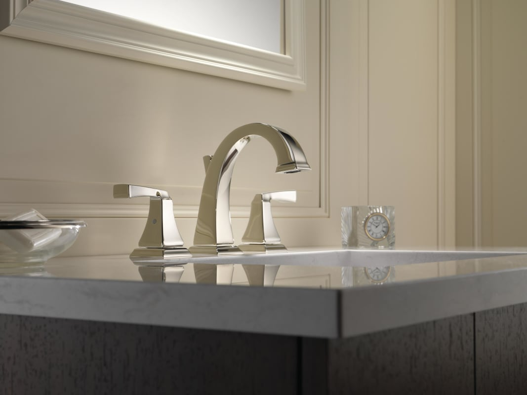 7 Faucet Finishes For Fabulous Bathrooms: 3551LF-CZ In Champagne Bronze By Delta