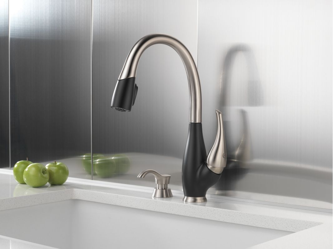 Faucet Com 9158 Sr Dst In Stainless And Chili Pepper By