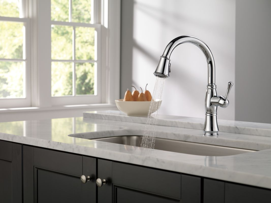 9197 ar dst in arctic stainless by delta for Kitchen designs by delta