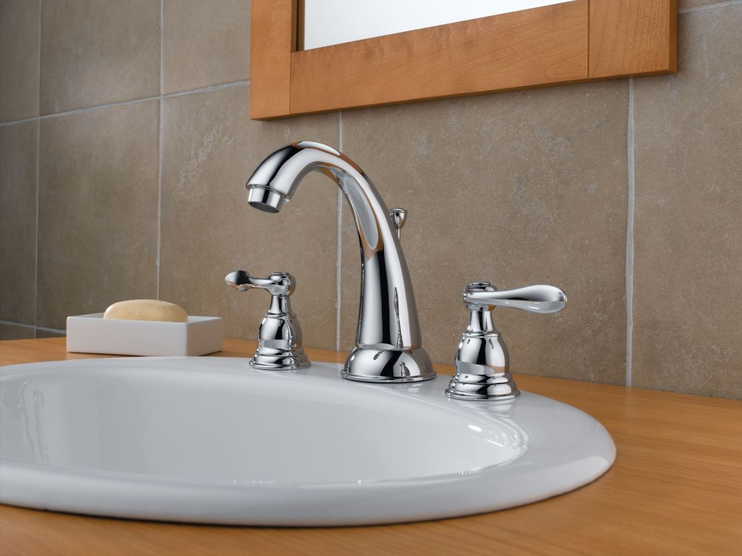 Delta Bathroom Fixtures Delta Windemere Widespread Bathroom Faucet With Delta Faucet 3555