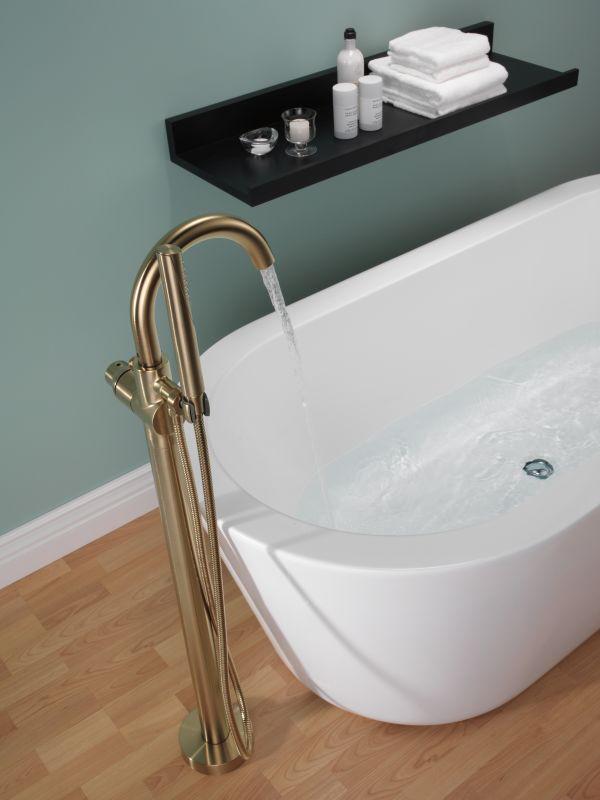 delta floor mount tub filler specs