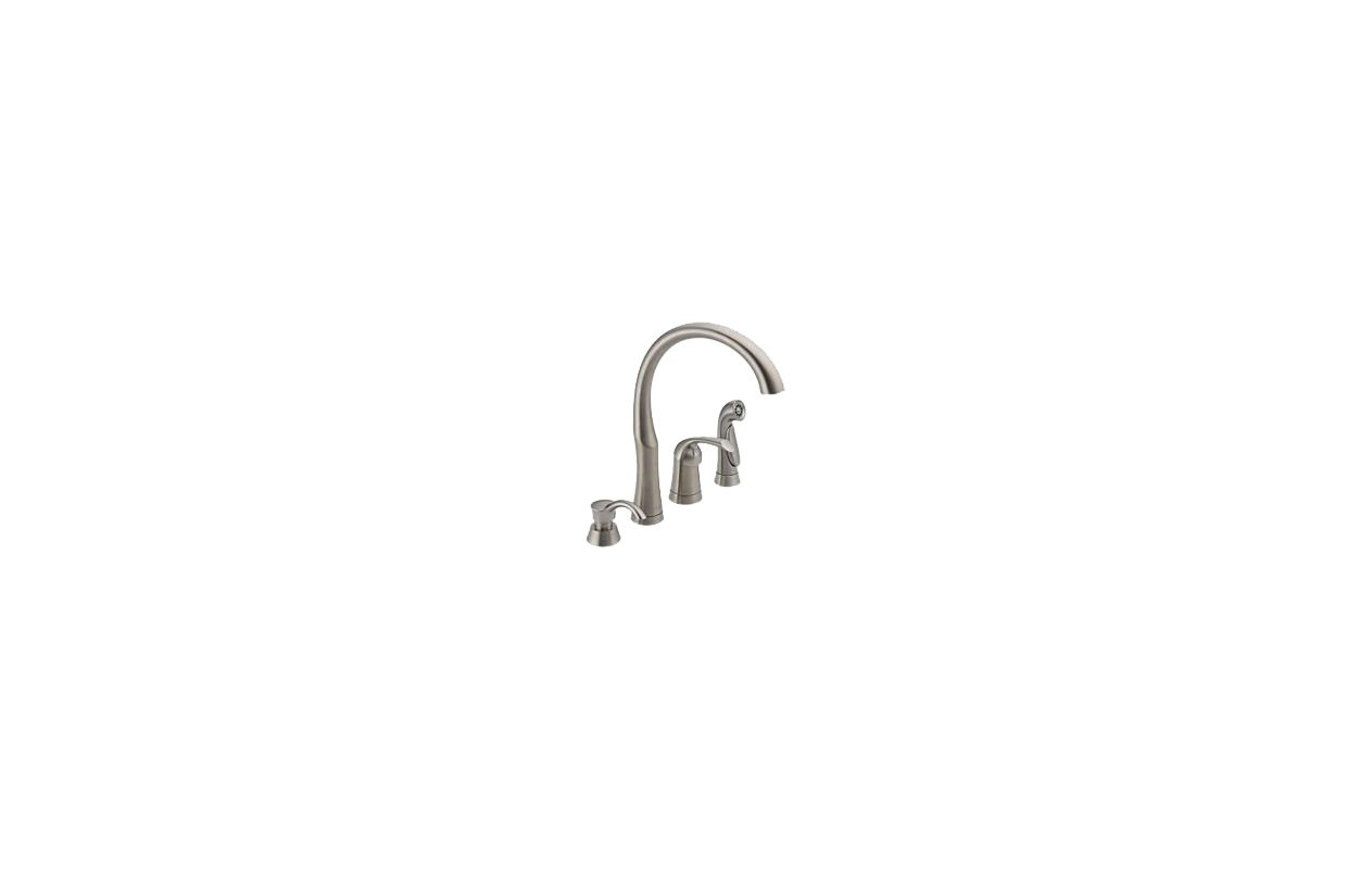 faucet 11946 sssd dst in stainless steel by delta