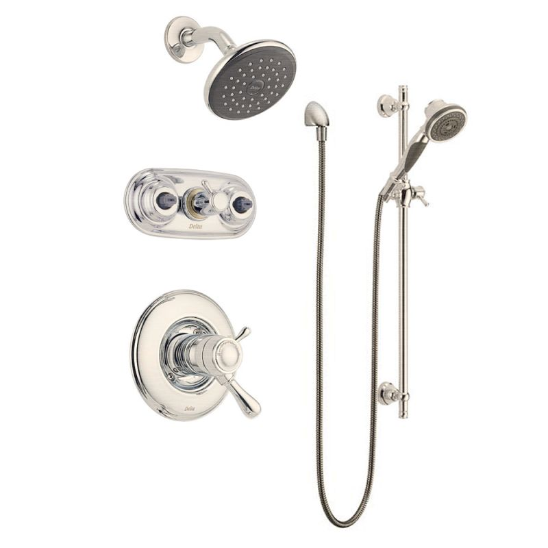 Faucet Com Leland Monitor 17 Series Shower Package Ss In Brilliance Stainless By Delta