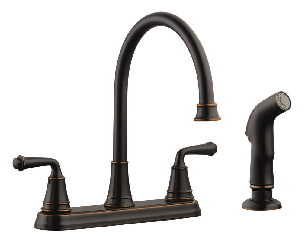 design house 524736 oil rubbed bronze double handle kitchen faucet with metal lever handles and. Black Bedroom Furniture Sets. Home Design Ideas