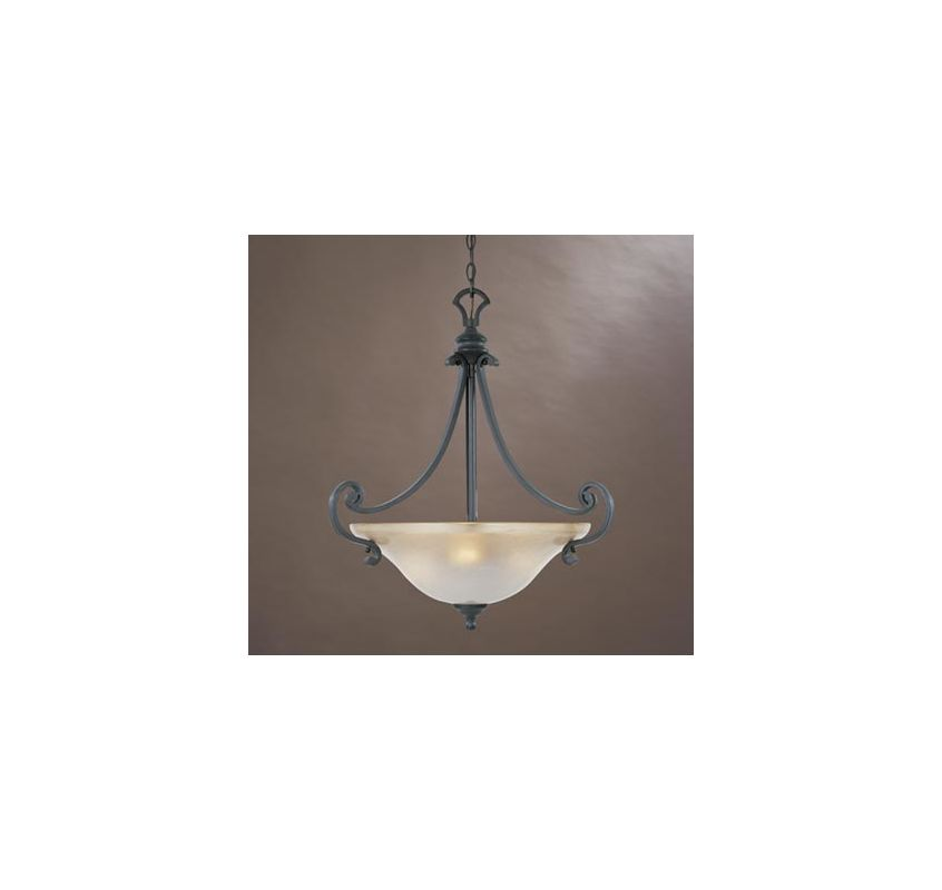 Designers Fountain 96131-NI Natural Iron Three Light Down Lighting Bowl Pendant from the ...