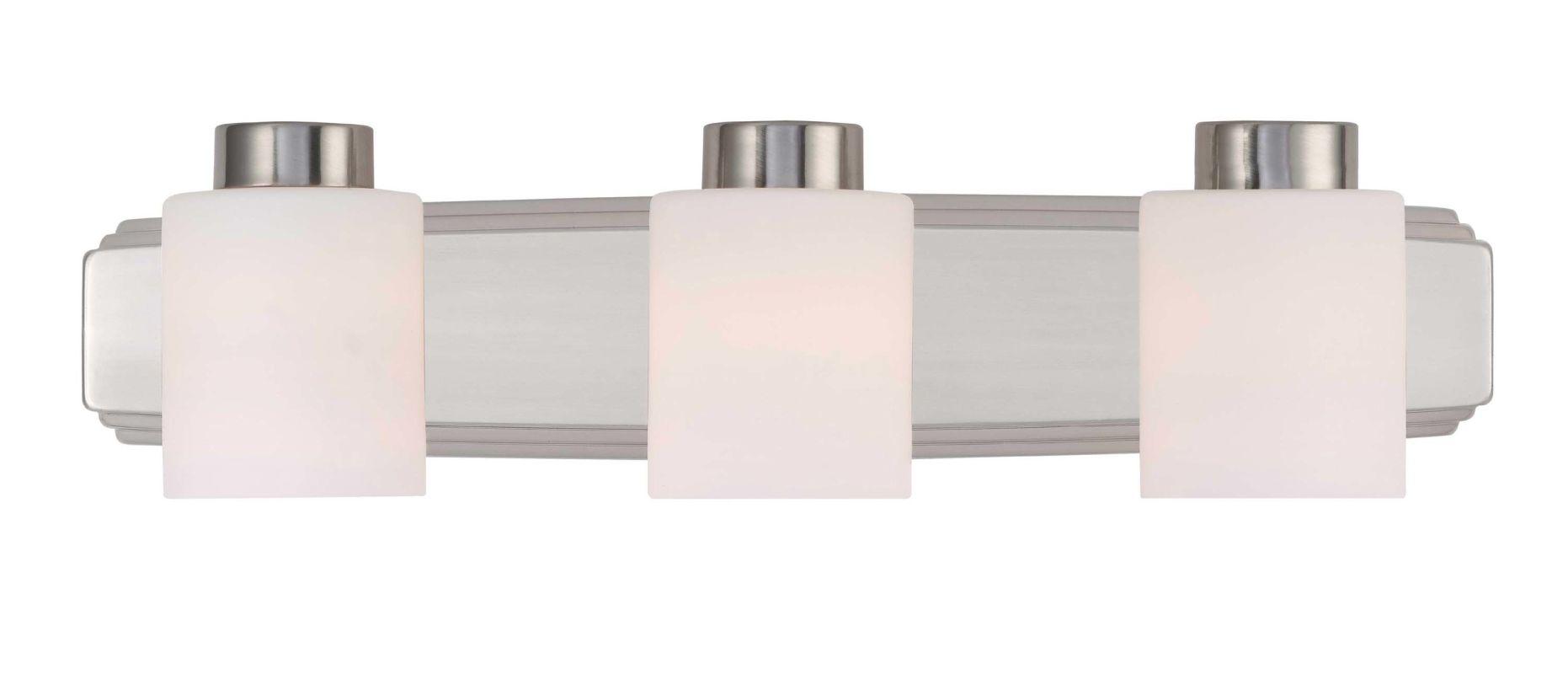 Can Vanity Lights Be Installed Upside Down : Dolan Designs 3503-09 Satin Nickel 3 Light 6
