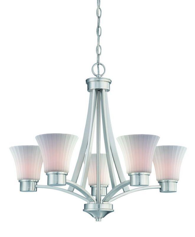 Dolan Designs 2980 09 Satin Nickel 5 Light Single Tier Up