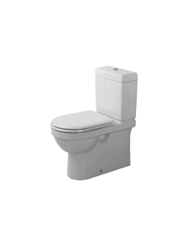 duravit 01700900 white elongated close coupled washdown. Black Bedroom Furniture Sets. Home Design Ideas