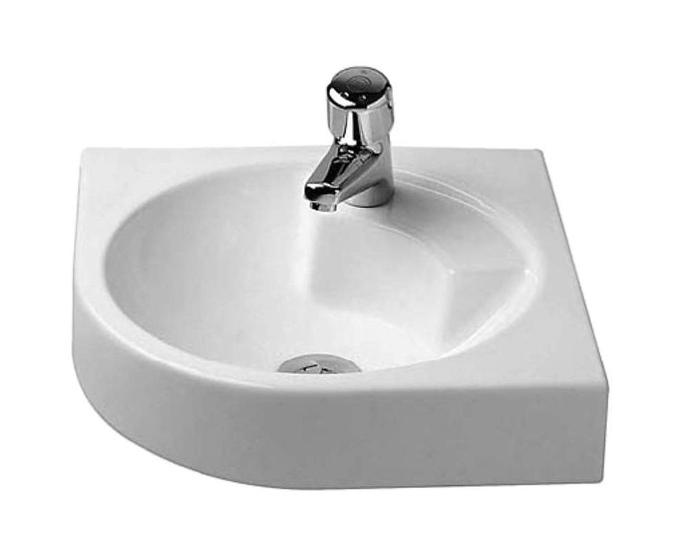 Duravit 0448450000 white architec 25 ceramic wall mounted for Duravit architec sink