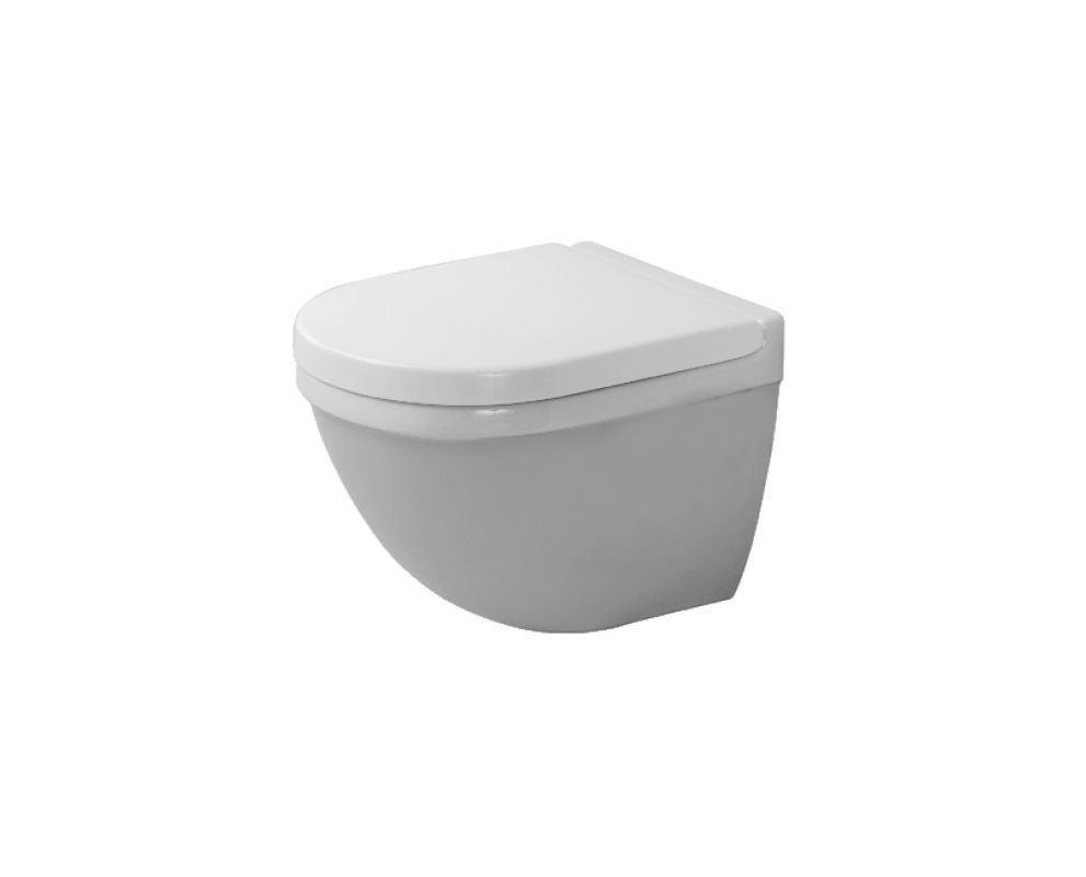 duravit 2227090092 white starck 3 1 6 gpf round toilet. Black Bedroom Furniture Sets. Home Design Ideas