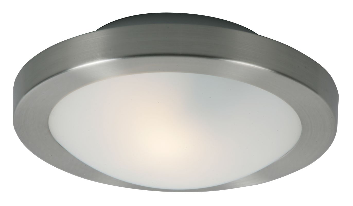 ET2 E20531-09 Satin Nickel Piccolo Single-Bulb Flush Mount Indoor Ceiling Fixture - Glass Shade ...
