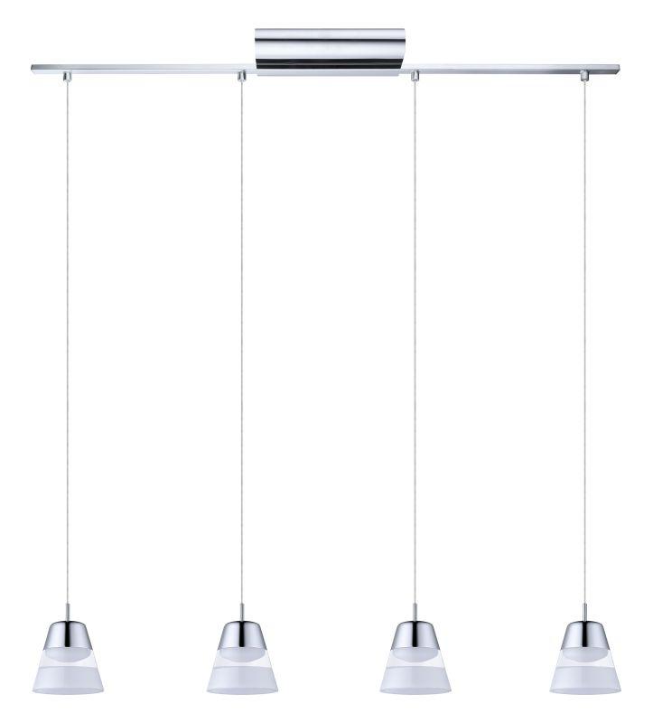 "Eglo Pancento 40 Watt Chrome Integrated Led Pendant 94479a: Eglo 94356A Chrome Pancento 36"" Wide 4 Light Linear LED"