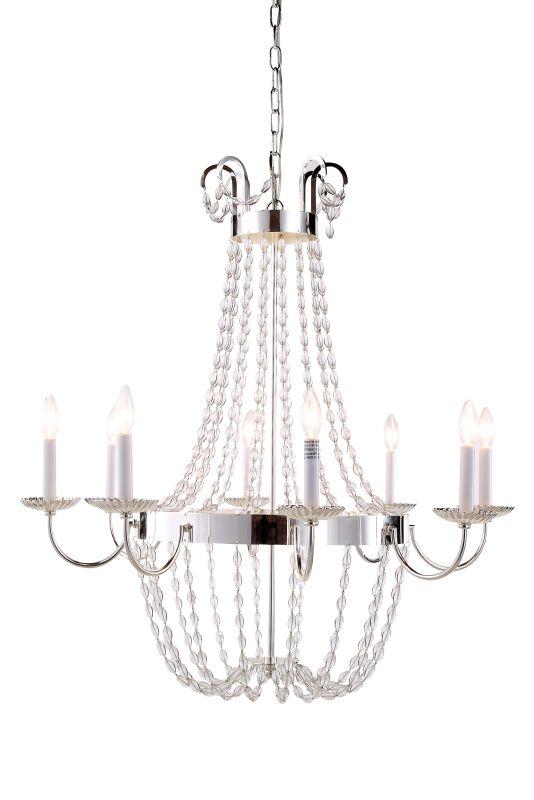 elegant lighting 1433d32sn silver nickel roma 32 u0026quot  wide 8