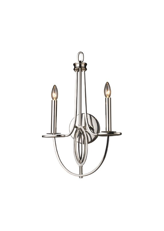 elk lighting 10113  2 polished nickel two light wallchiere