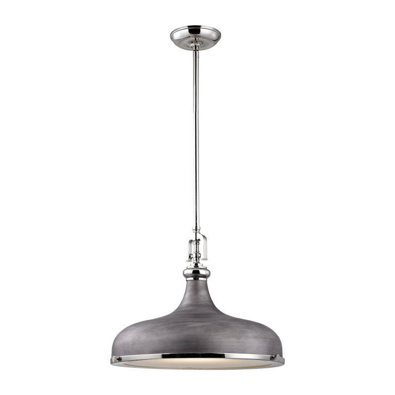 Elk Lighting Rutherford: Elk Lighting 57082/1 Polished Nickel / Weathered Zinc