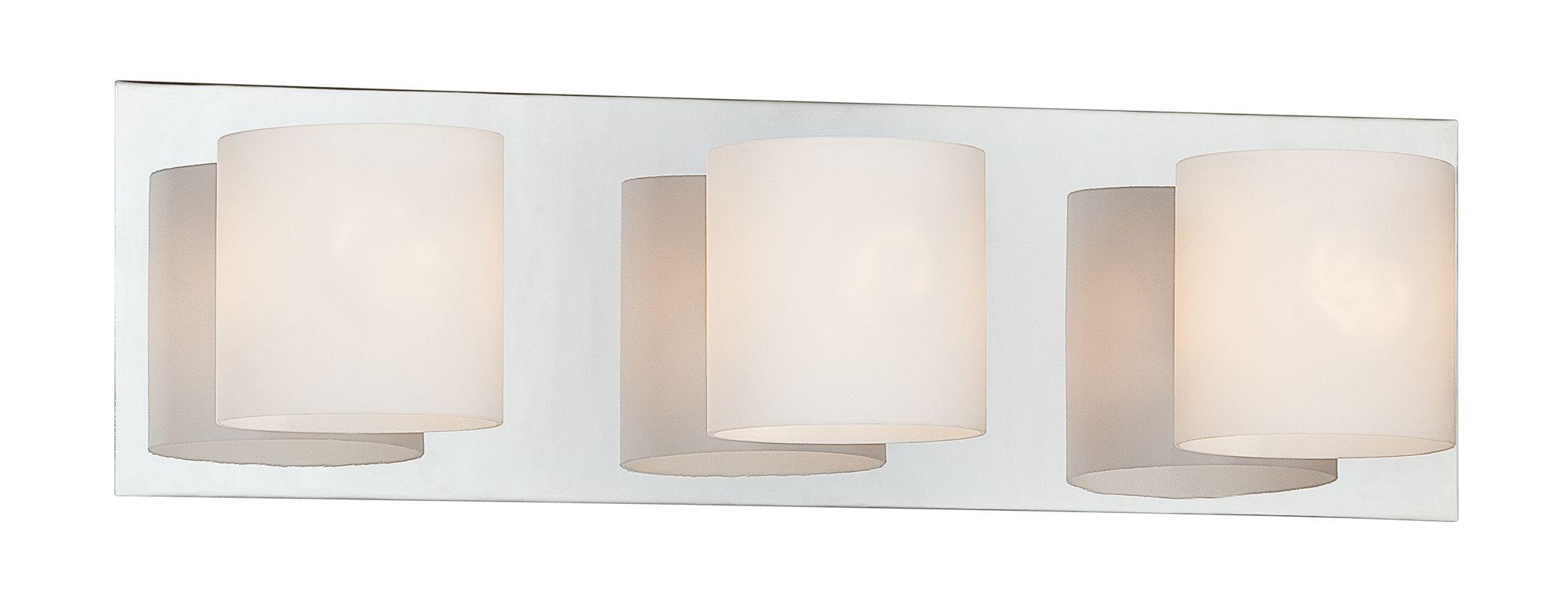 """Progress Lighting Archie 3 Light 8 75 In Polished Chrome: Eurofase Lighting 20379-025 Chrome 3 Light 5.5""""H Bathroom"""