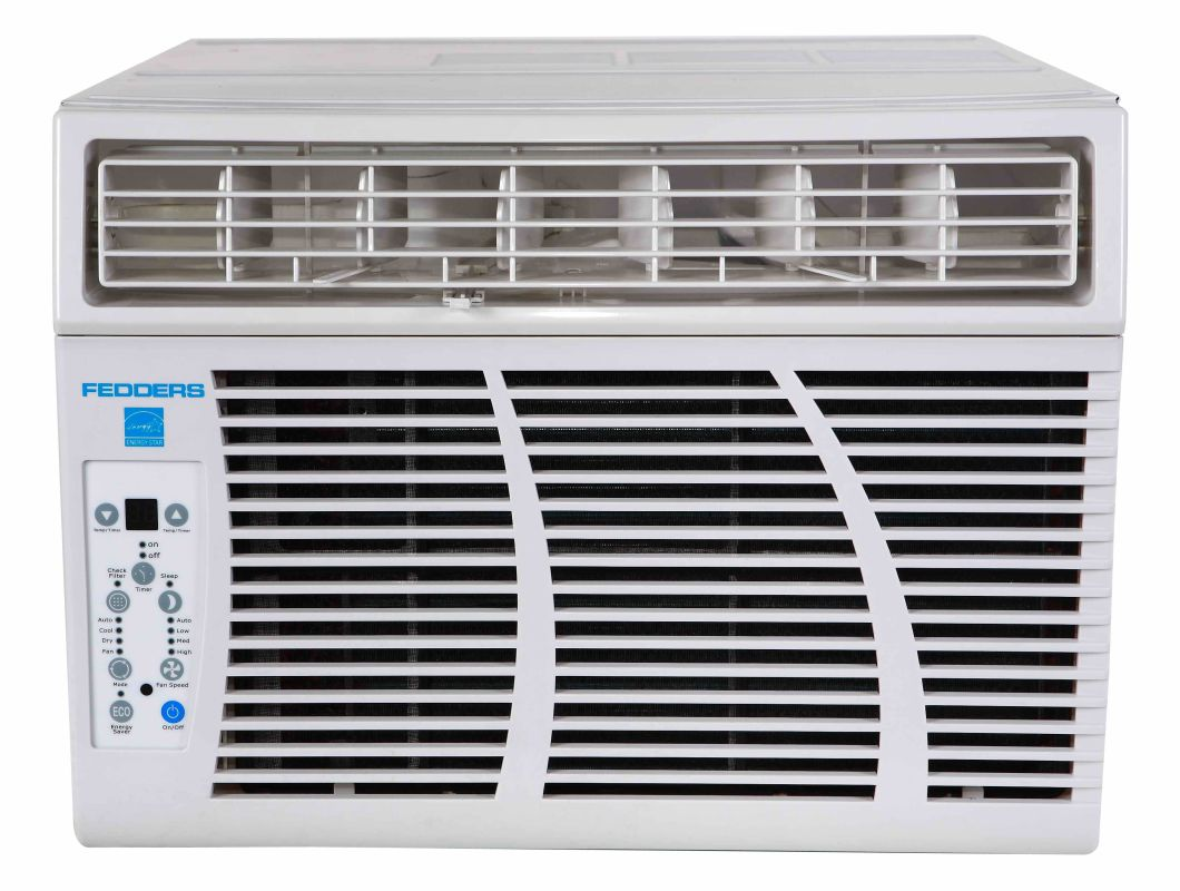 Fedders azey12f7a white 11000 12000 btu 10 8 eer heat and for 11000 btu window air conditioner