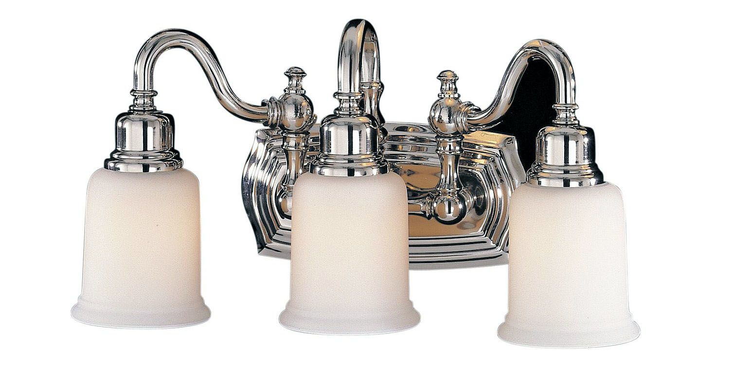 Feiss Canterbury 3 Light Vanity Fixture Oil Rubbed Bronze: Feiss VS8003-PN Polished Nickel Canterbury 3 Light