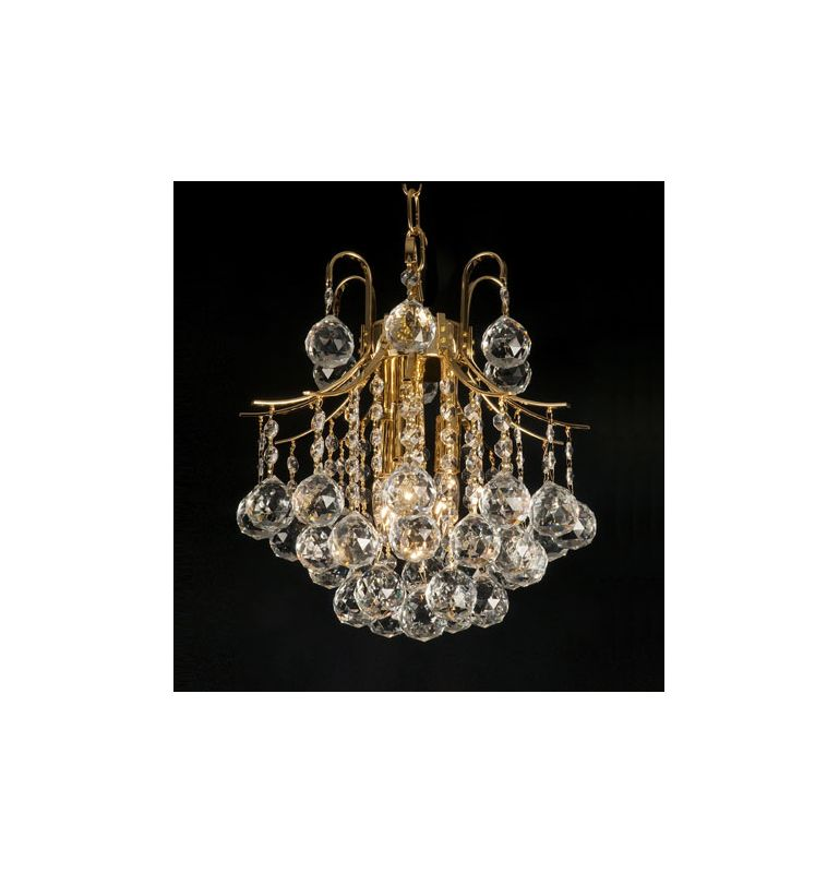 Gallery 7423 Gold Gold  Tier Empire Crystal Chandelier
